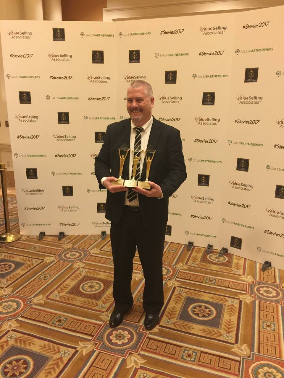 Unox, our Client takes 3 Gold Stevie Awards for Sales Excellence in 2017